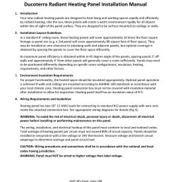 ducoterra heating panel installation manual english page 1 solaray installation manual english [ 1700 x 2178 Pixel ]