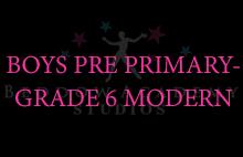 BOYS PRE PRIMARY-GRADE 6 MODERN
