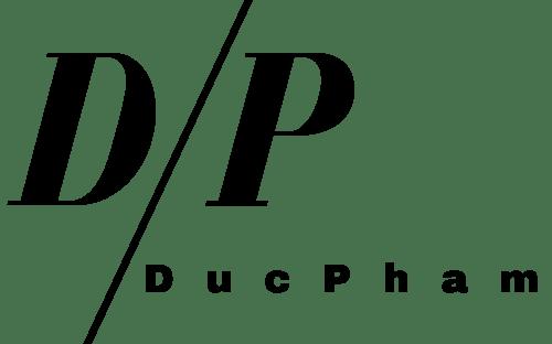 Duc Pham als Trasparentes Logo schwarz.