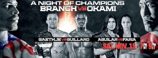 WSOF 15; BALLS OUT AGAINST UFC 180 & BELLATOR MMA 131, NO WORRIES!