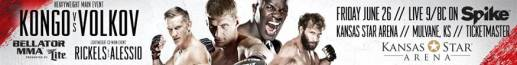 """Bellator MMA: Kongo vs. Volkov"" receives first prelim fight,  as featherweight standout Bubba Jenkins meets gritty Midwestern veteran Joe Wilk"