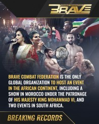 BRAVE Combat Federation is the only global promotion to land on African soil