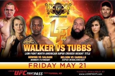 Walker title defense highlights Lion Fight 66