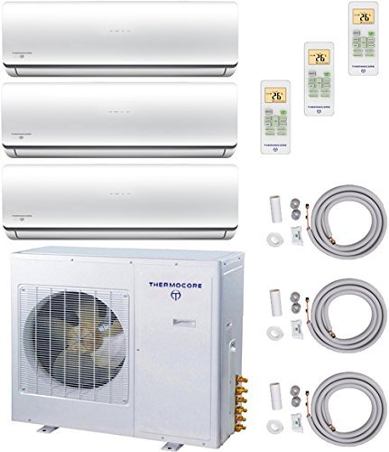thermocore systems trizone energy star ductless mini split heat pump air conditioner 9000btu