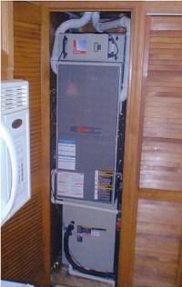 Closet Furnace Installation