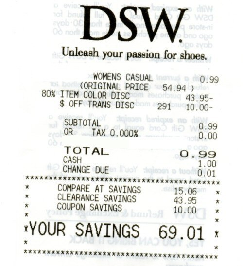dsw clearance colors 2019