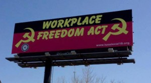 union billboard, ohio workforce freedom act