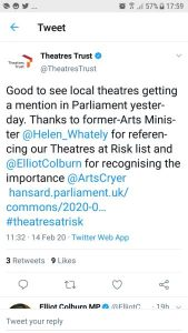 Theatres Trust Tweet