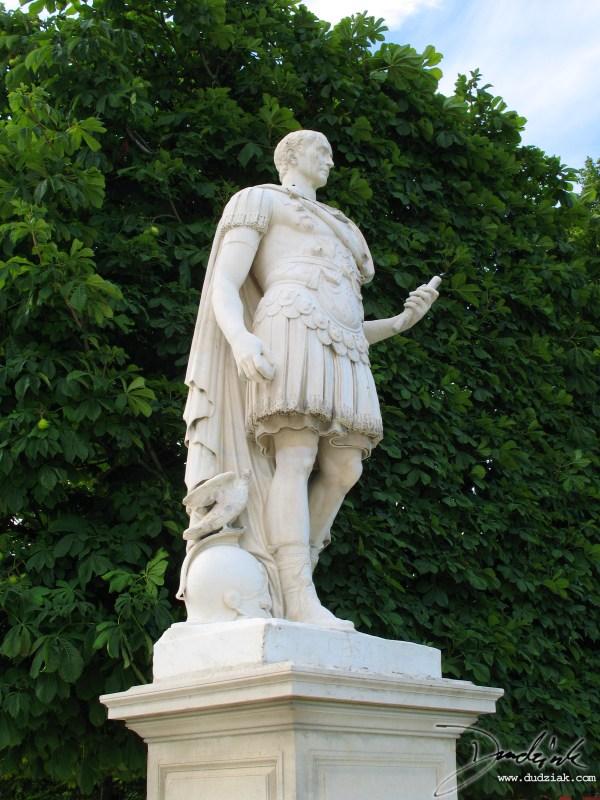 Garden Statues in Paris the Louvre Museum