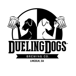 Dueling Dogs Logo Sticker