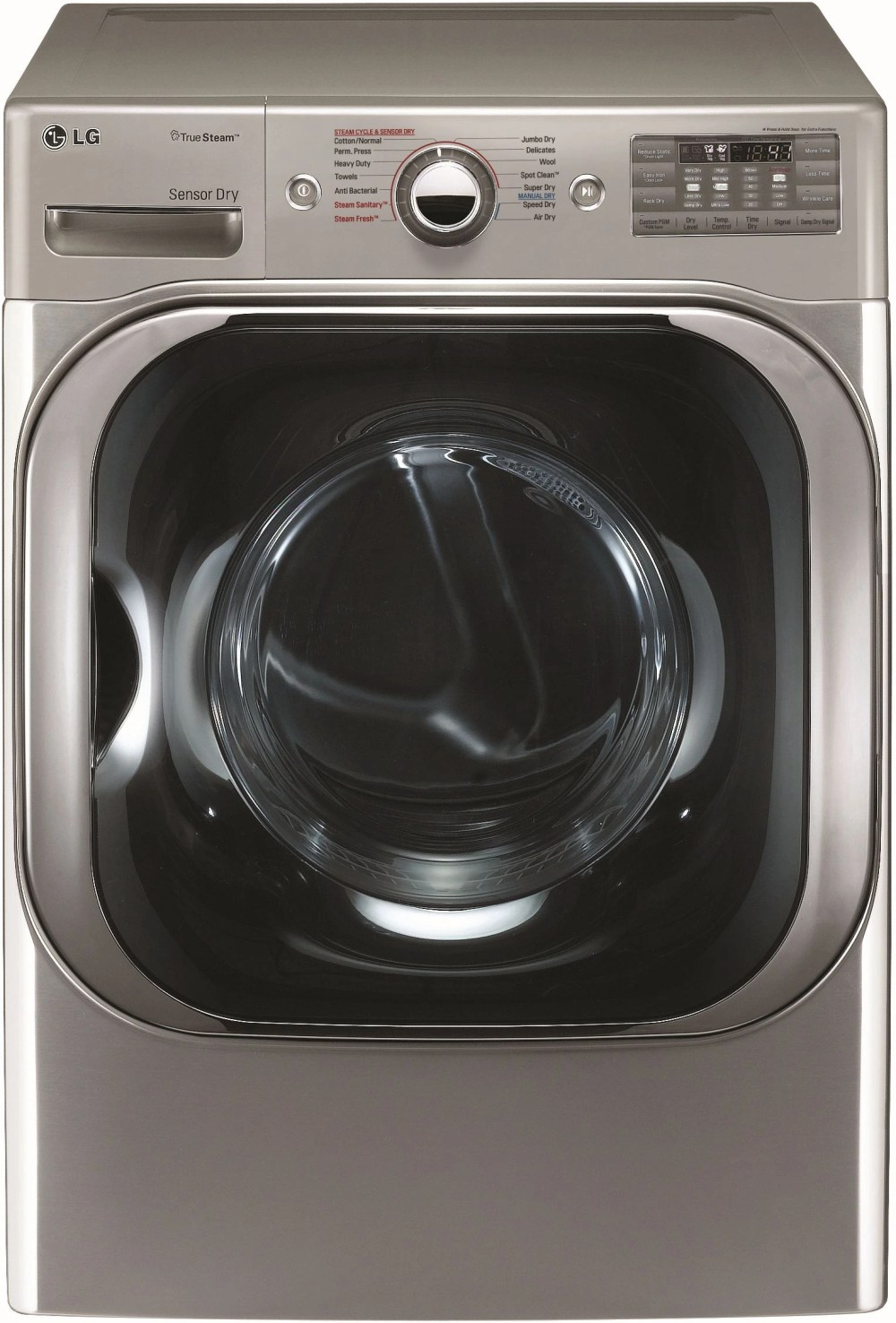 medium resolution of lg front load electric dryer graphite steel dlex8100v