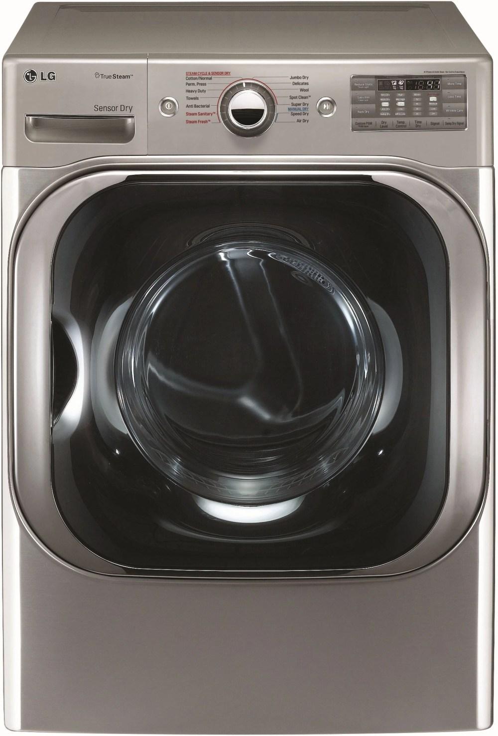 medium resolution of lg front load electric dryer graphite steel dlex8100v