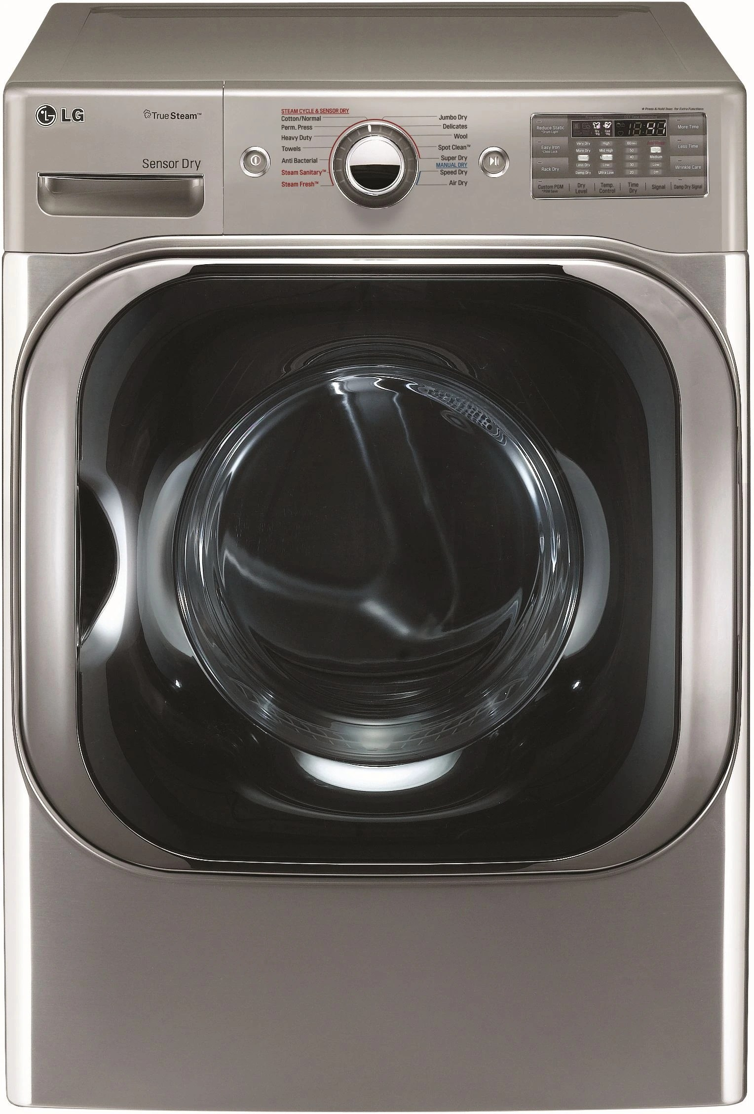 hight resolution of lg front load electric dryer graphite steel dlex8100v