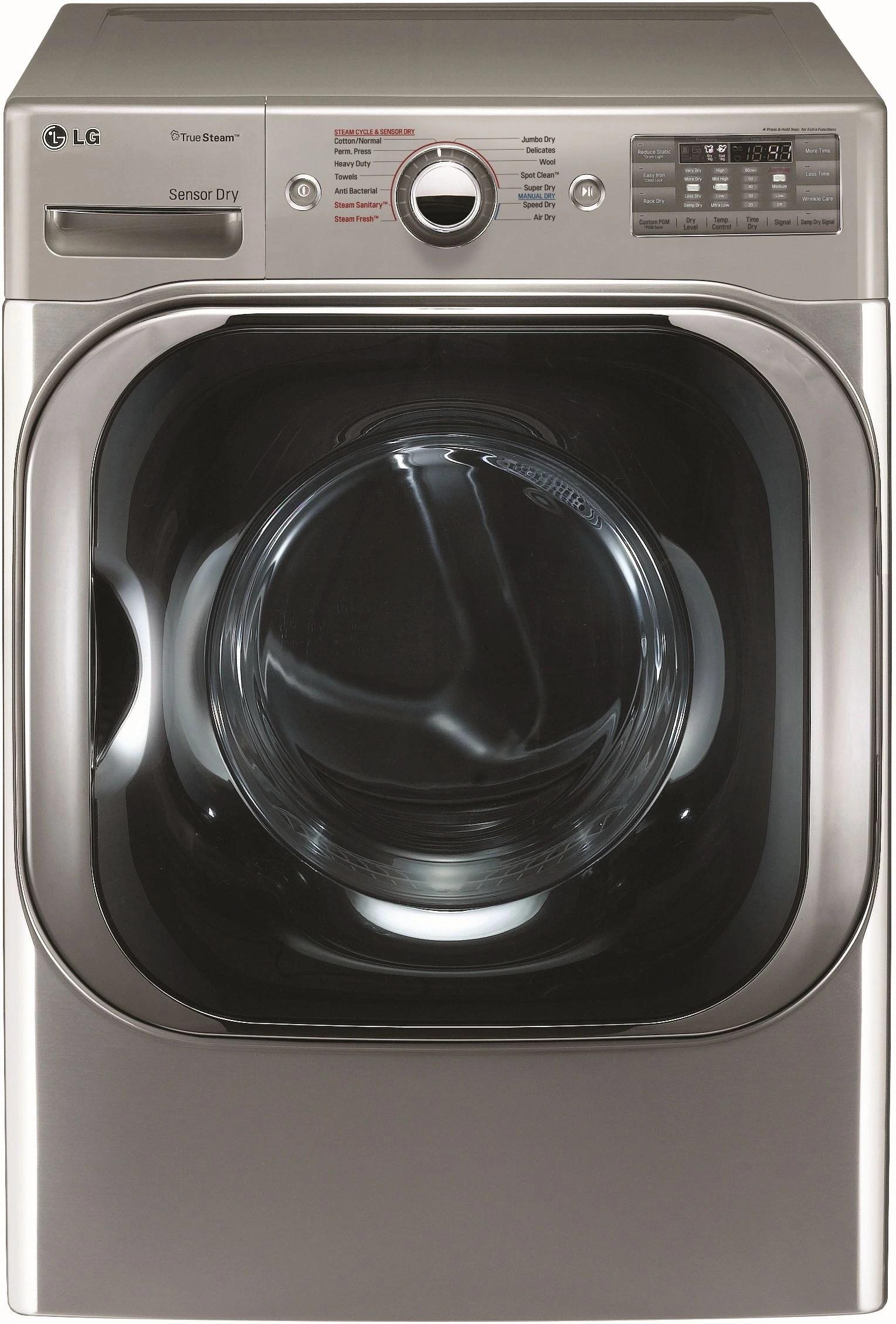 hight resolution of lg front load electric dryer graphite steel dlex8100v