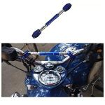Aluminium Adjustable Handle Bar Rod Cross Bar for All Motorcycle (Blue)