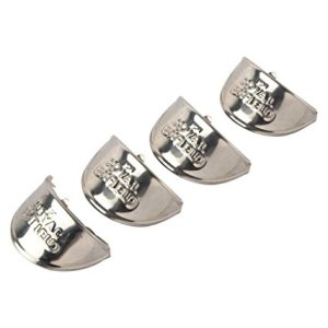Dug Dug Silver Indicator Shade Chrome Heavy Metal For Royal Enfield Peak Set Of 4