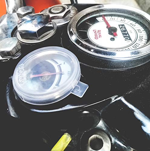 Royal Enfield Monsoon Kit with Speedo Meter, AMP Meter and Tank Cap Cover for All Classic, Standard and Electra Models