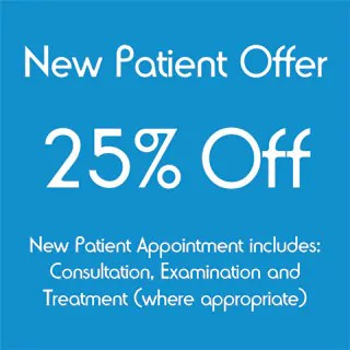 25% Off Your Chiropractic New Patient Appointment.  Complete the form below to claim