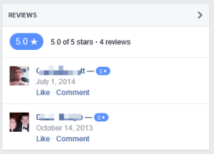 FB Review No Comments