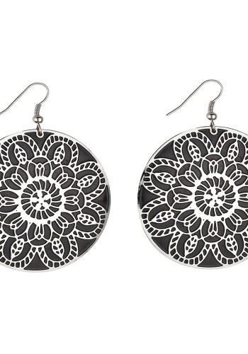 Flower filigree earrings