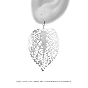 Leaf heart - approximate scale