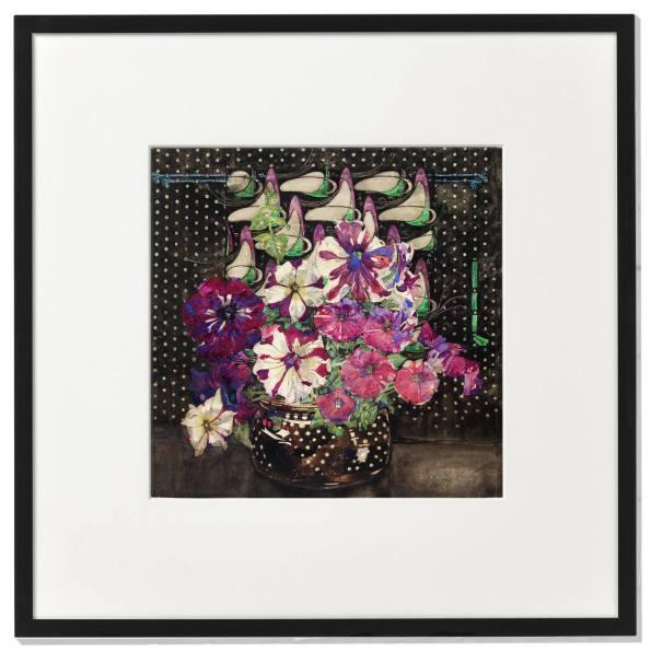 Framed print: Petunias