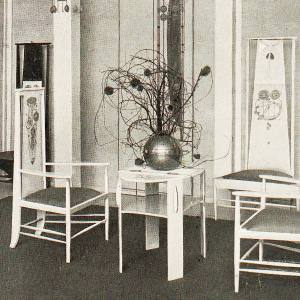 "C.R. Mackintosh and M. Macdonald. ""The Rose Boudoir"". Turin. 1902. Image University of Heidelberg."