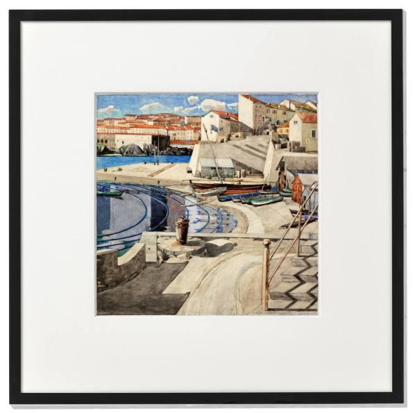 Framed print: The Little Bay, Port Vendres