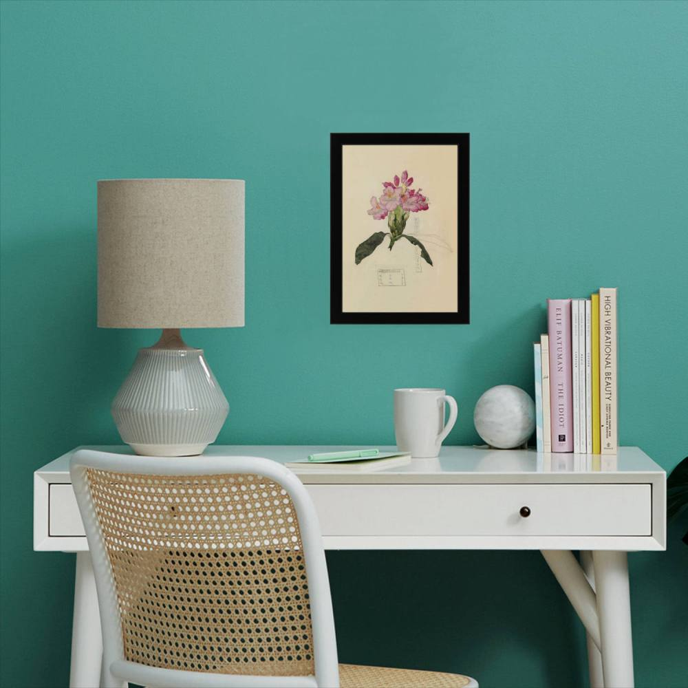 Rhododendron A4 print framed