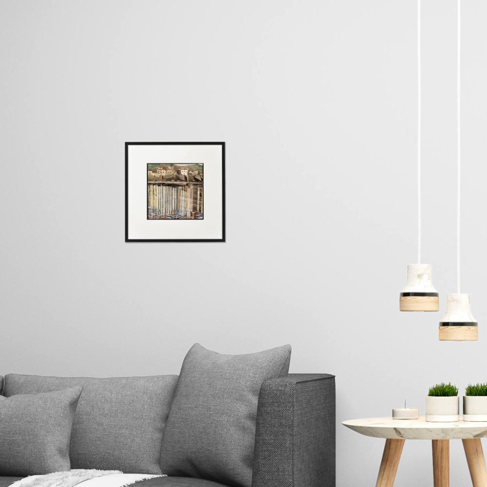 La Rue du Soleil A4 print framed