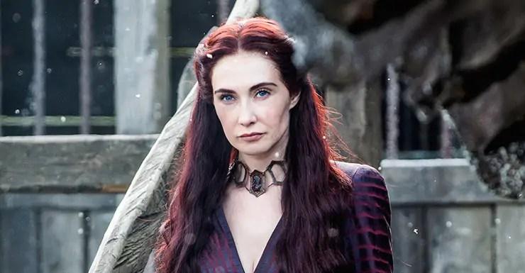 Carice van Houten als Melisandre op kraamvisite