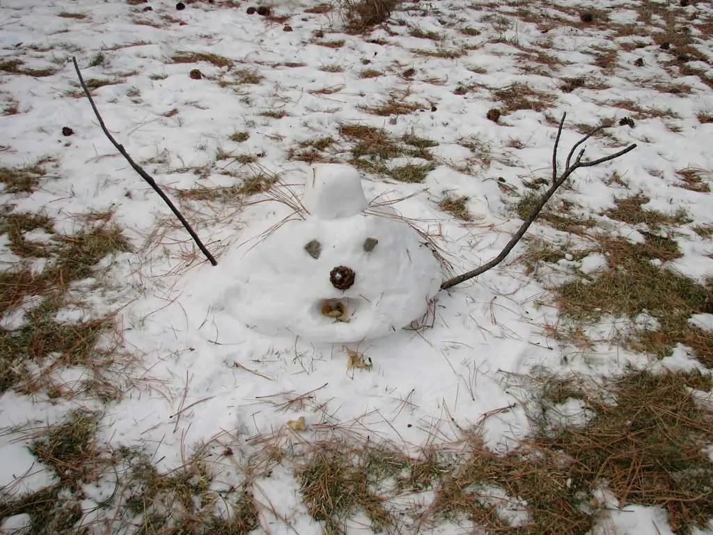 De mooiste sneeuwpop allertijden