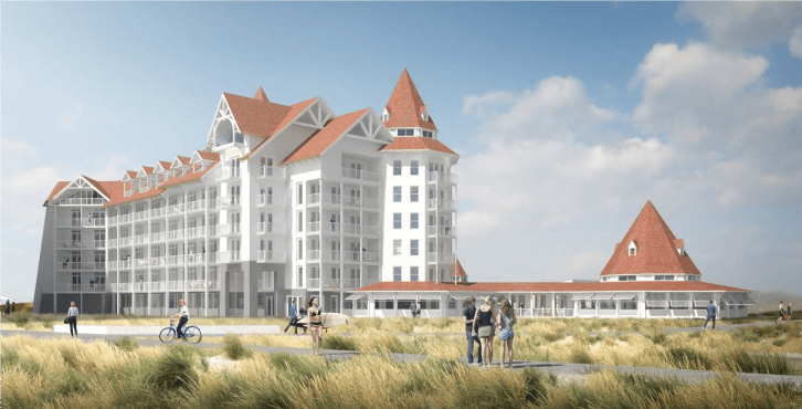 Artist impressions vernieuwd Hotel Noordzee