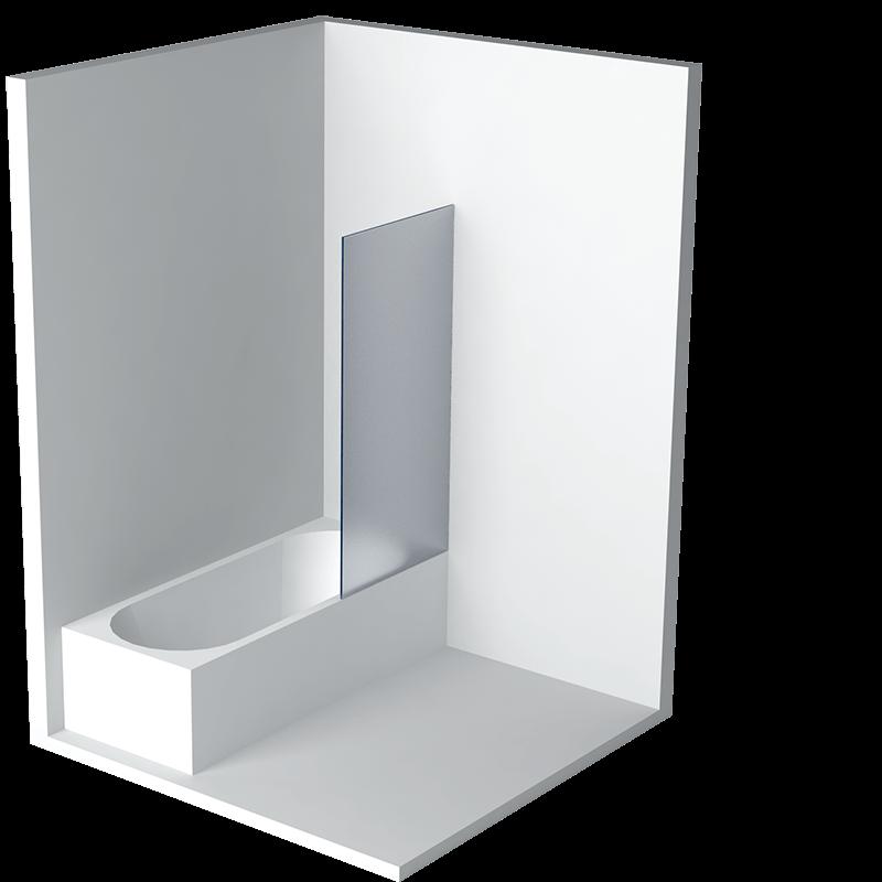 cabine de douche sur baignoire