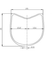 Section jante BACCARA 25 T Asymétrie