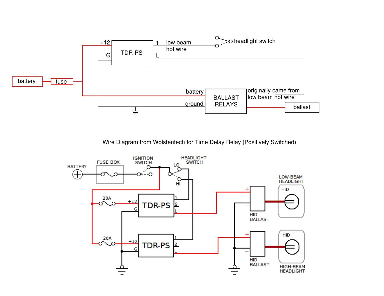 time delay relay circuit diagram volleyball 4 2 offense harley softail location free engine image