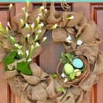 The Easiest Burlap Wreath You Will Ever Make Duke Manor Farm