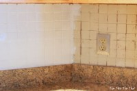 Painting a Kitchen Backsplash - Duke Manor Farm