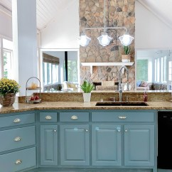 Blue Kitchen Island 2 Drawer Base Cabinet Reveal And Some Painting Advice Duke Manor Farm