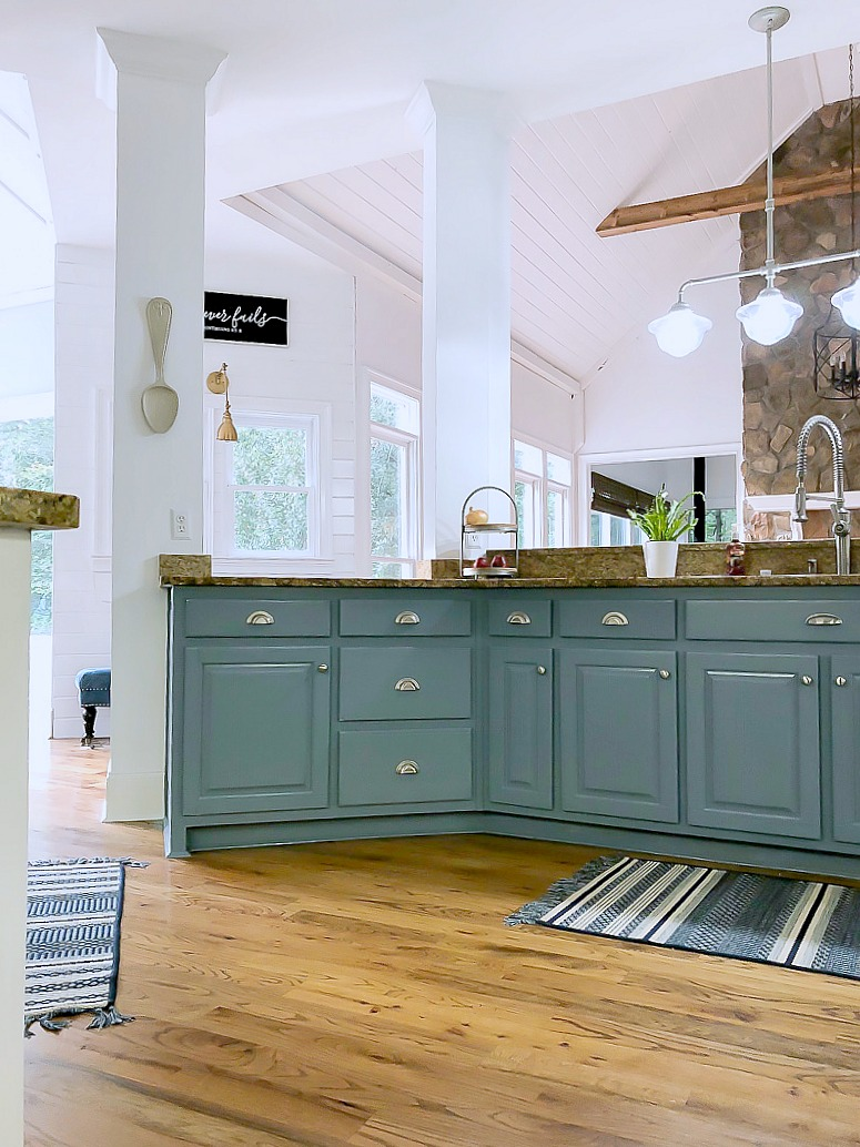 blue kitchen island hardware for cabinets reveal and some painting advice duke manor farm