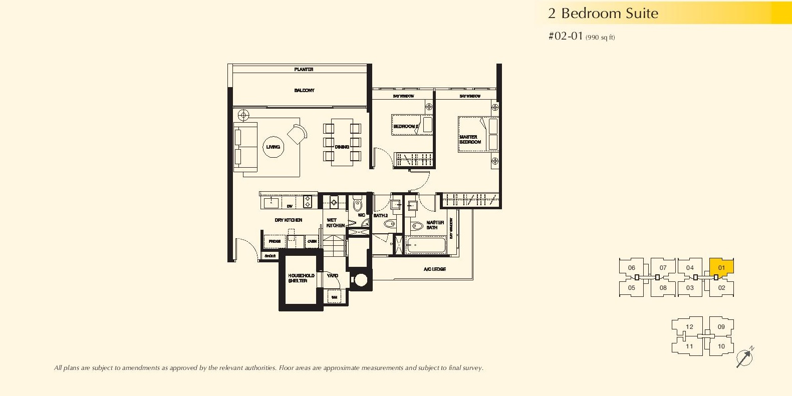2 Bedroom Suite Dukes Residences
