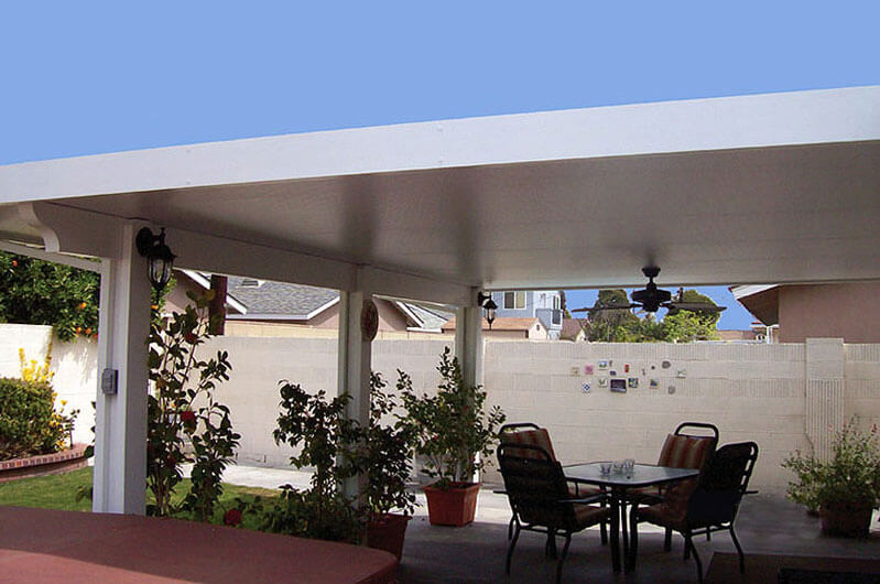 building a patio aluminum awning to