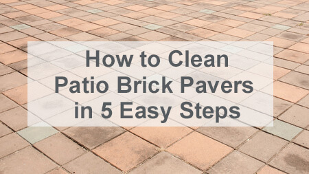 how to clean patio brick pavers in 5
