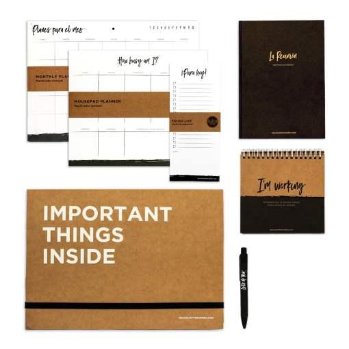 Kit Completo Dulce Compañía de papelería y planners