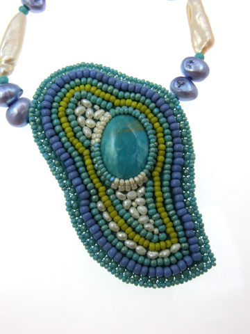 Turquoise-and-pearls-pendant