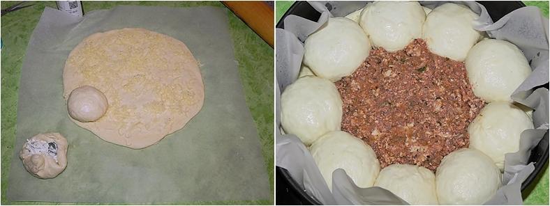 Placinta cu carne si branza
