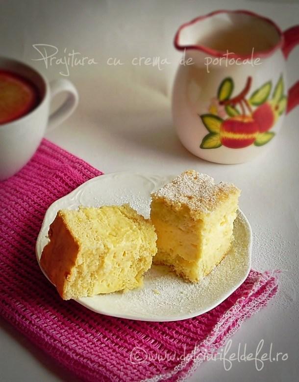 Prajitura cu crema de portocale