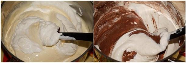 Mousse de ciocolata alba si neagra
