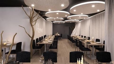 Không gian bên nhà hàng khỏa thân ở Paris