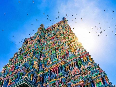 Ngôi đền Meenakshi ở Tamil Nadu, phía nam Ấn Độ